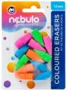 Gumki do mazania kolorowe 12szt NEBULO