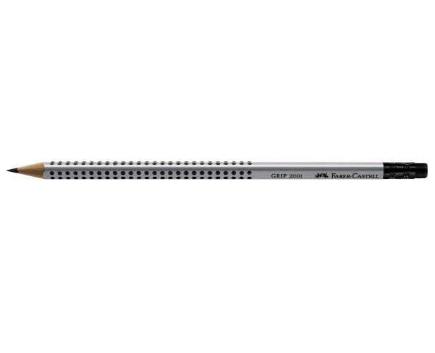 Ołówek Grip 2001 HB z gumką srebrny (117200 FC)