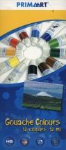 Farby Gouache Prima Art 12 kolorów 12 ml  w tubie