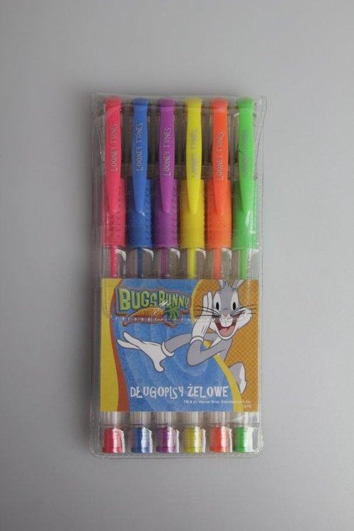 Długopisy żelowe brokatowe 6 sztuk