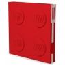 Kwadratowy notatnik LEGO z długopisem - Czerwony (52439)