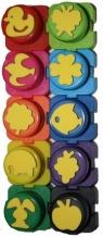 Farby do malowania palcami z pieczątkami Colorino kids 10 kolorów