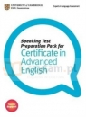 CAE Speaking Test Preparation Pack PB with DVD