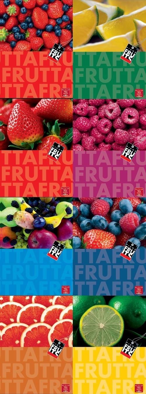Kołobrulion A5 Pigna Fruits w kratkę 80 kartek mix