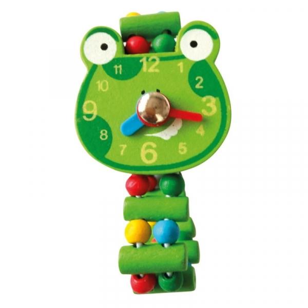 Drewniany zegarek żaba (9987139)
