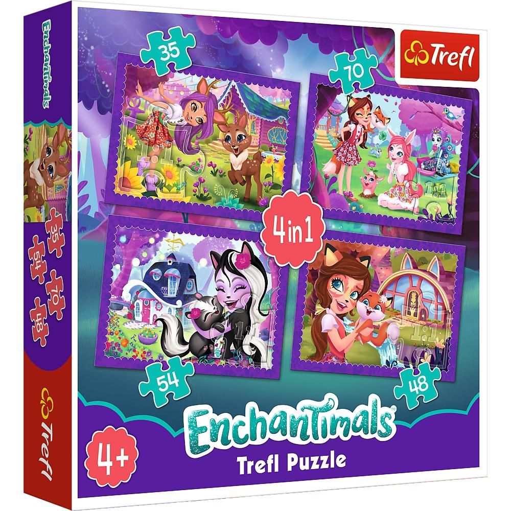 Puzzle 4w1: Zabawa z pupilami Enchantimals