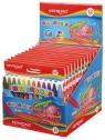 Kredki świecowe KEYROAD 12 kolorów display 12 sztuk