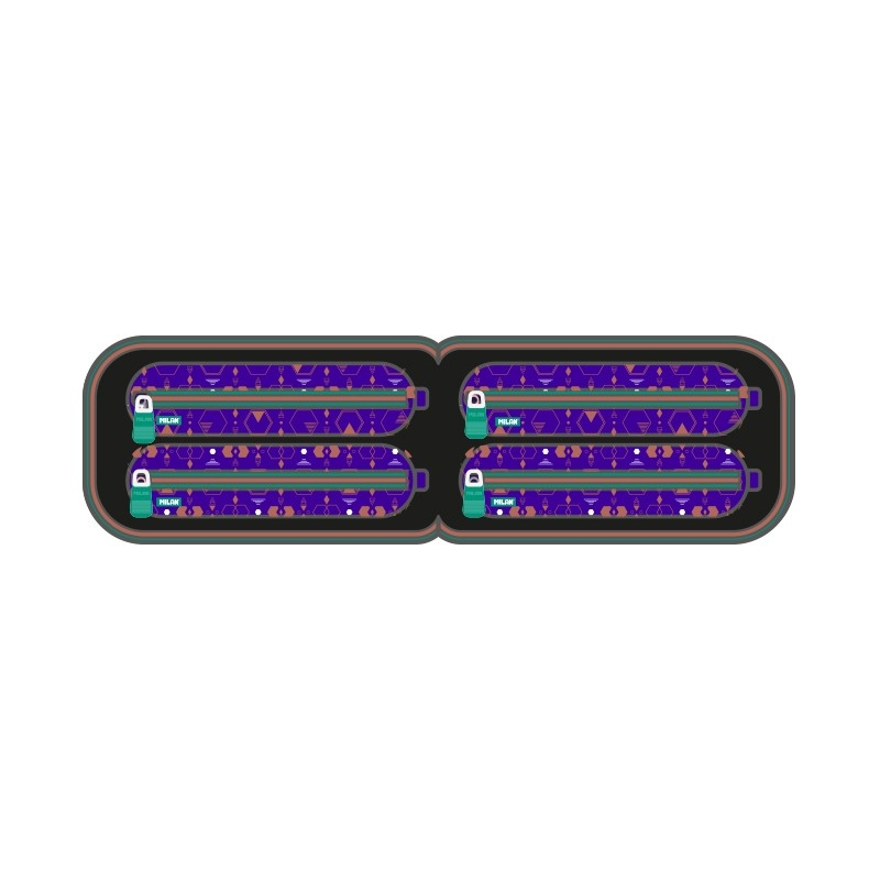 Multipiórnik owalny z 4 piórnikami MILAN COPPER III, fioletowy (08872CP3PR)