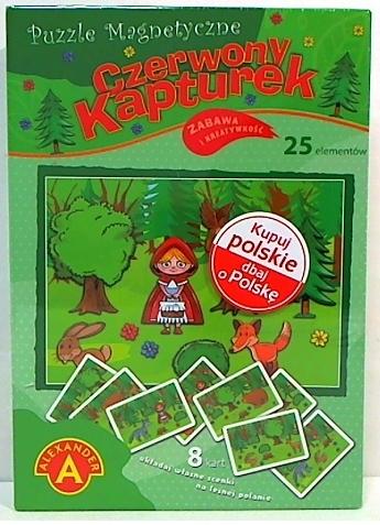 Puzzle magnetyczne 25: Czerwony Kapturek (1739) (Uszkodzone opakowanie)