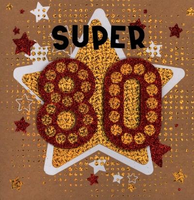 Karnet 80 urodziny  HM-200-1414