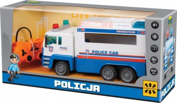Ciężarówka policyjna na radio z ładowarką (02239)