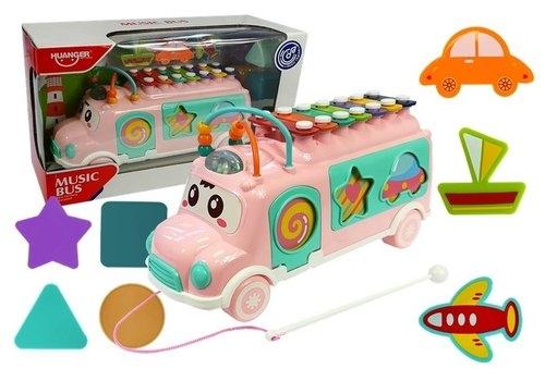 Muzyczny autobus z sorterem cymbałki ksylofon (4609)