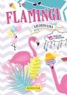 Kolorowanka Flamingi z naklejkami