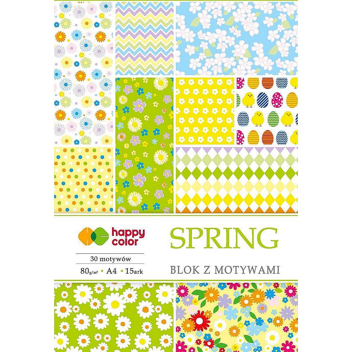 Blok z motywami A4/15 arkuszy - Spring (406549)