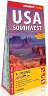 USA południowo-zachodnie (USA Southwest); laminowana mapa turystyczna 1:1 350