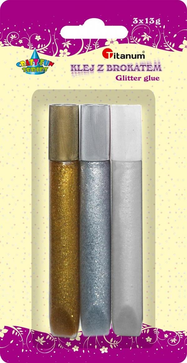 Klej z brokatem - złoty, srebrny, perłowy (307638)