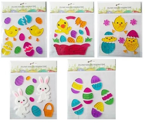 Naklejki dekoracyjne żelowe Easter