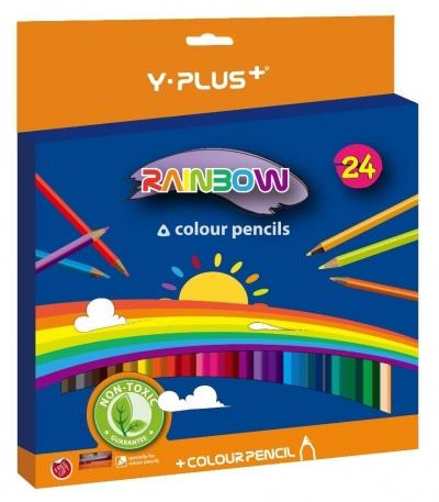 Kredki ołówkowe Rainbow + temperówka 24 kol