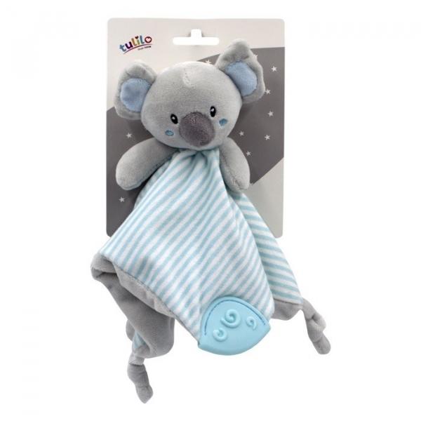 Przytulanka New baby Miluś z dodatkami miętowy 25x25 cm (5146b)