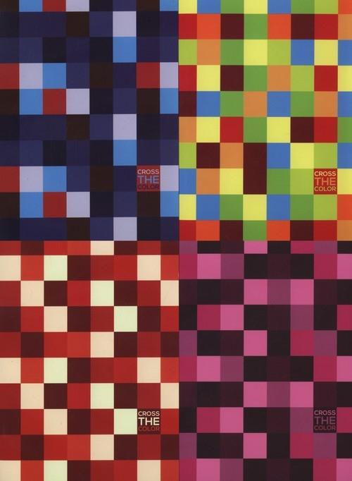 Zeszyt A5 w kratkę 80 kartek Cross the colour 5 sztuk mix