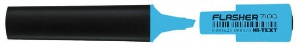 Zakreślacz Flasher niebieski (10szt) HI-TEXT