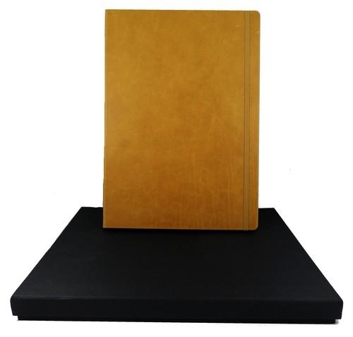 Leather Notebook Master brązowy linie