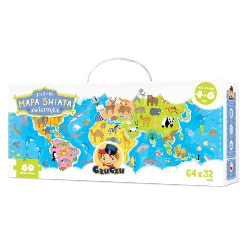 CzuCzu Puzzle Mapa świata Zwierzęta (6399)