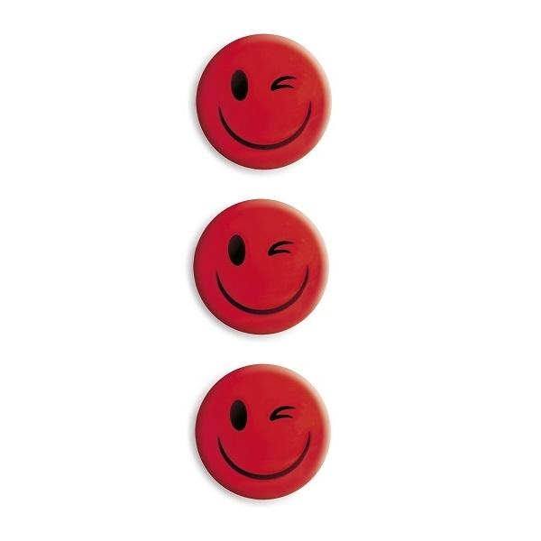 Magnesy do tablic czerwone 50mm/3szt. - uśmiech (GM304-SC3)