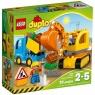 Lego Duplo: Ciężarówka i koparka gąsienicowa (10812)<br />Wiek: 2+