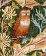 Karnet 17x14cm z kopertą Detail from The Owl wall hanging