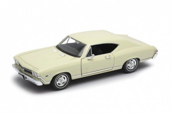 Model kolekcjonerski 1968 Chevrolet Chevelle SS396, kremowy (29397-1)