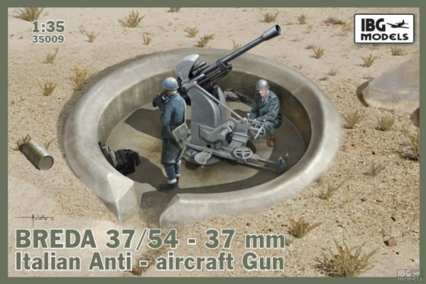 Model do sklejania Breda 37/54-37mm Italian AA gun (35009)