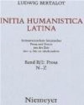 Initia Humanistica Latina Band II/2 Ludwig Bertalot, L Bertalot