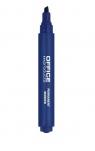 Marker permanentny OFFICE PRODUCTS, ścięty, 1-5mm (linia), niebieski 12 sztuk