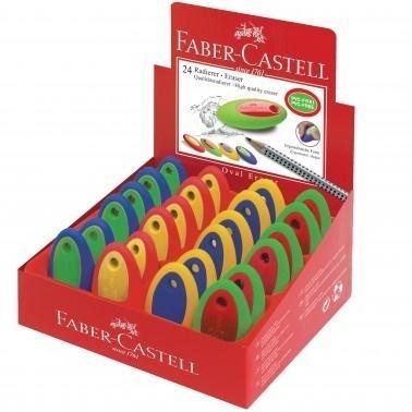 Gumka Oval mix kolorów (24szt) FABER CASTELL