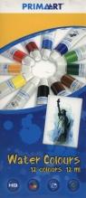 Farby akwarelowe Prima Art 12 kolorów 12 ml w tubie
