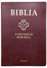 Biblia pierwszego Kościoła złocona bordowa