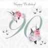 Karnet Swarovski kwadrat urodziny 90 (CL1690)