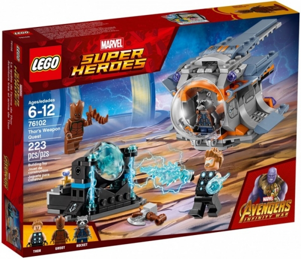 Lego Marvel: Poszukiwanie broni Thora (76102)