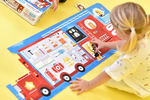 CzuCzu: Puzzle z dziurką - Wóz strażacki