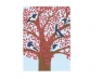 Karnet 17x14cm z kopertą Magpies in a Cherry Tree