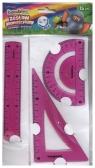 Zestaw geometryczny 3 części 15 cm Bambino flexi różowy