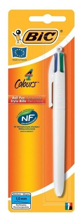 Długopis 4 Colours White Medium bls BIC