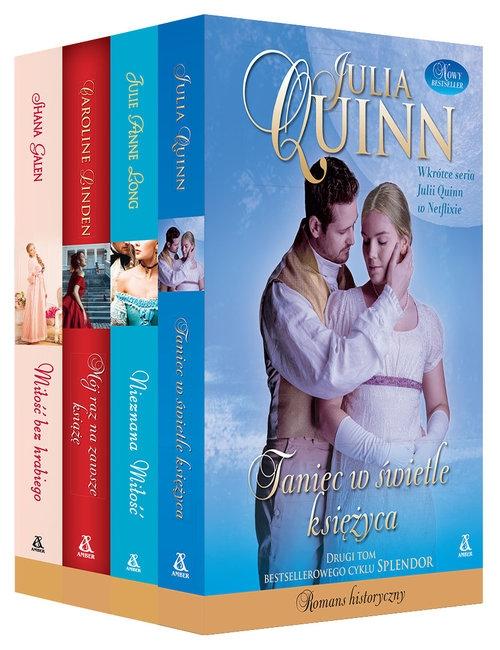 Pakiet: Taniec w świetle księżyca / Nieznana miłość / Mój raz na zawsze książę / Miłość bez hrabiego Quinn Julia, Long Julie Anne, Linden Caroline, Galen Shana