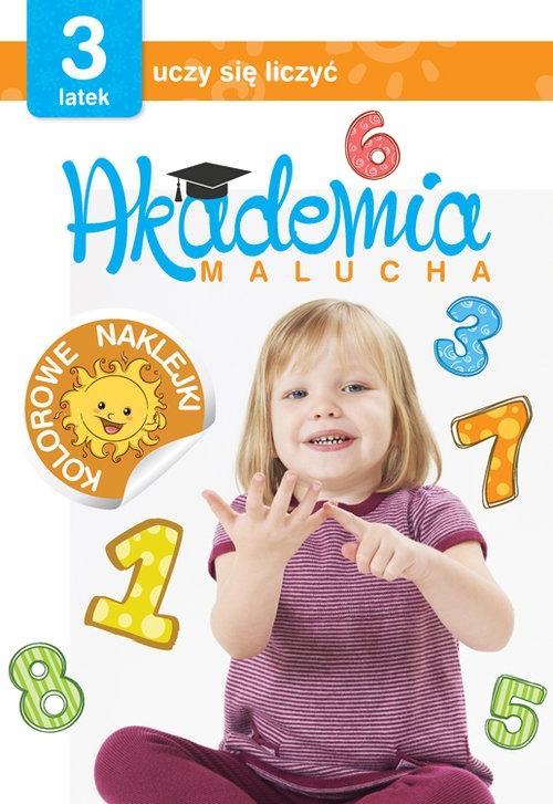 Akademia malucha 3-latek uczy się liczyć