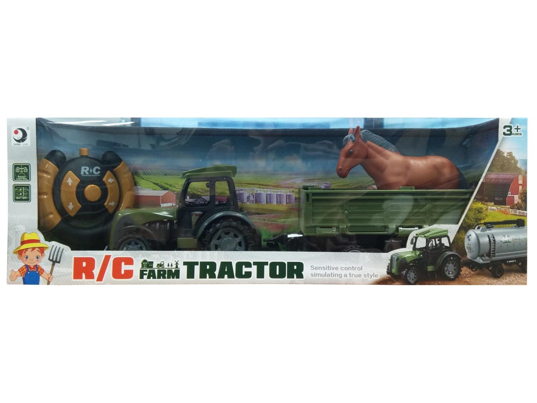 Traktor RC z przyczepą i koniem (116402)