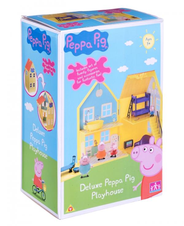 Świnka Peppa domek de luxe z akcesoriami + 4 figurki (04840)