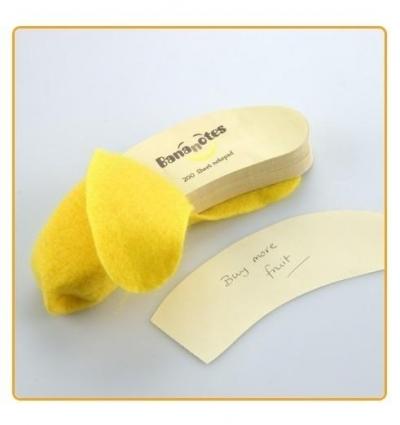 Banan - notes z wyrywanymi karteczkami