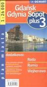 Gdańsk Gdynia Sopot plus 3 1:26 000 plan miasta