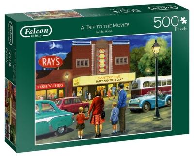 Puzzle 500 Falcon Wyjście do kina G3